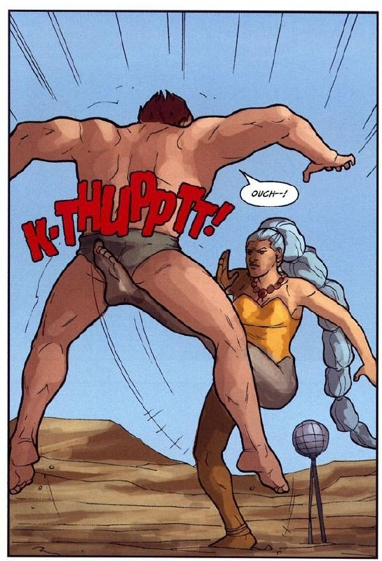 superhero, strong femal, kick in the nut, kick in the groin, kick in the balls, ouch, how to win a fight
