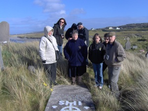 Family Gathered at Cemetery, Inish Mor