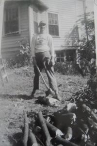 WW II Veteran At Home Working