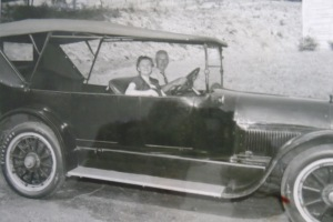 Grandparents and their Cadillac