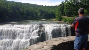 Husband At The Falls