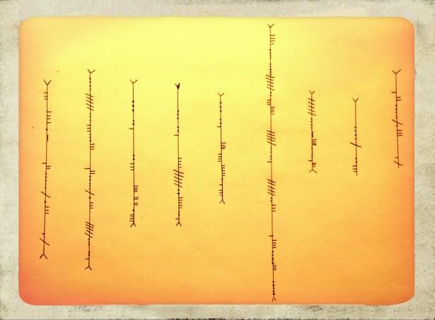 Written in Ogham