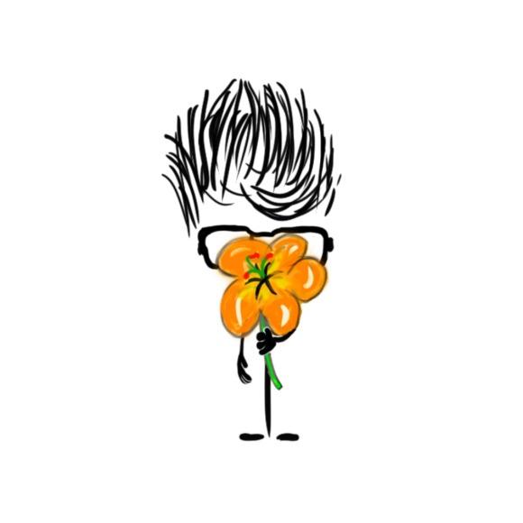 Orange flower. I give you a flower.