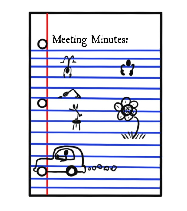 Meeting Minutes. Why I'm Not In Charge.