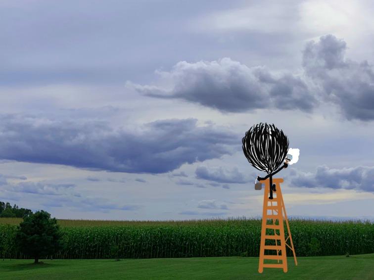 Paint, Sky, Art