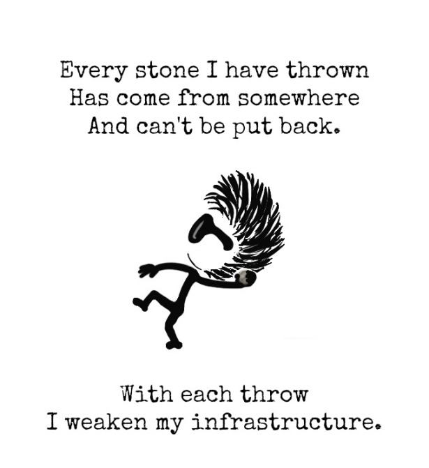Stone, Throw, Infrastructure