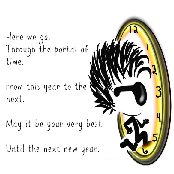 New Year, Clock, Time