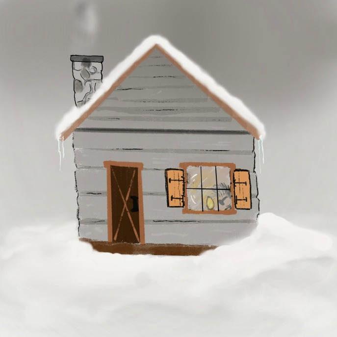 Cabin, Log Cabin, Winter