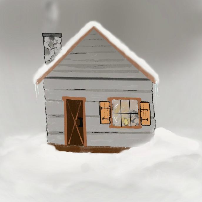 Cabin, Log Cabin, Winter