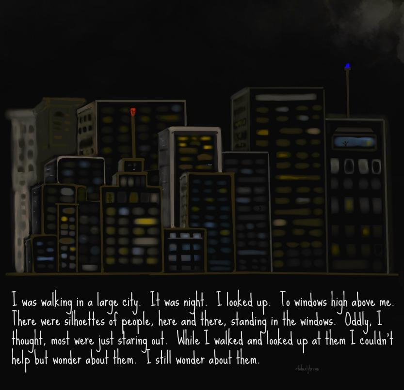 city, night, walk