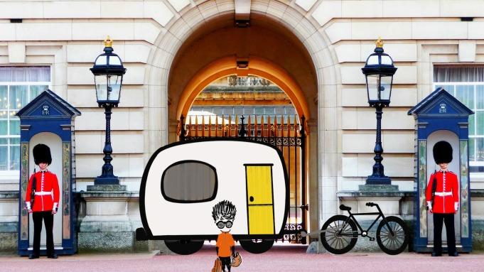 Buckingham Palace, Bike, Camper