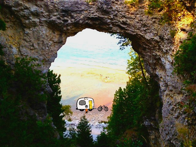 Arch Rock, Mackinac, Island