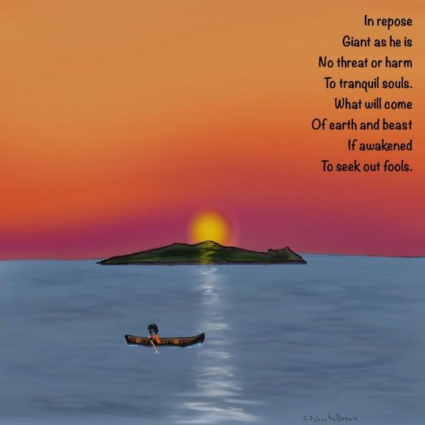 Giant, Sleeping, Island, Ireland, Blasket Island