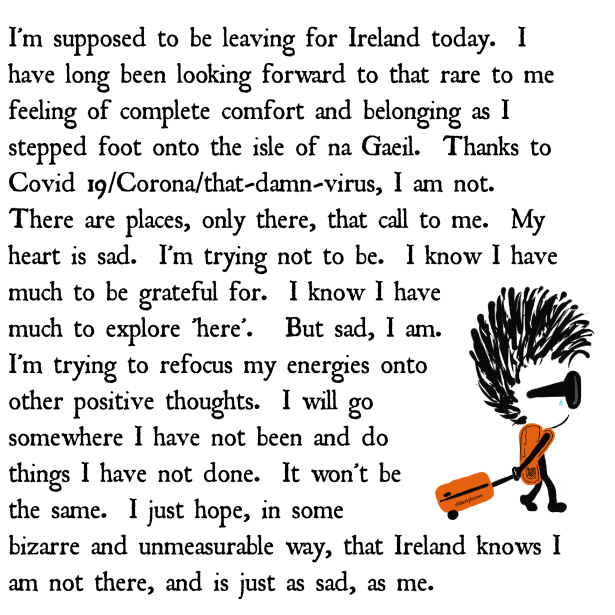 Ireland, Travel, Sad, Backpack