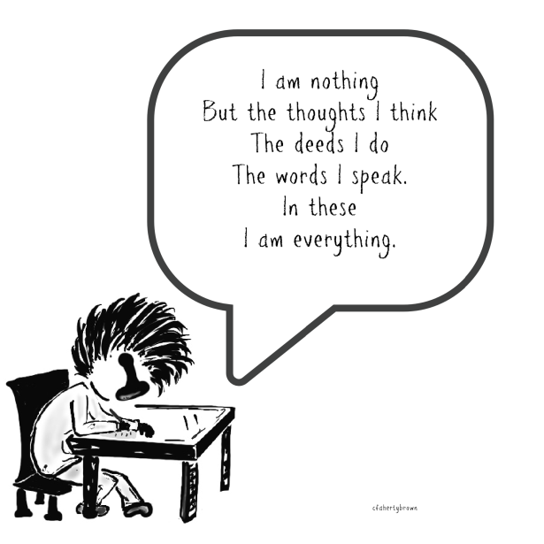 Nothing, Think, Speak, Write