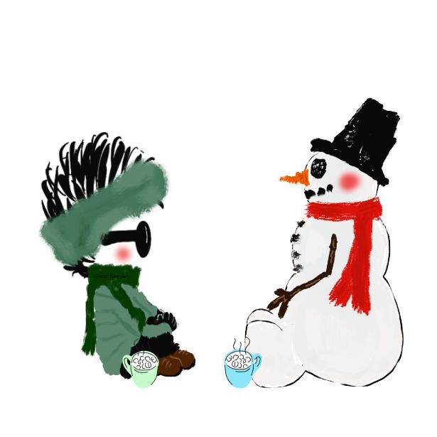 Snowman, Friend, Hot Chocolate, Mugs