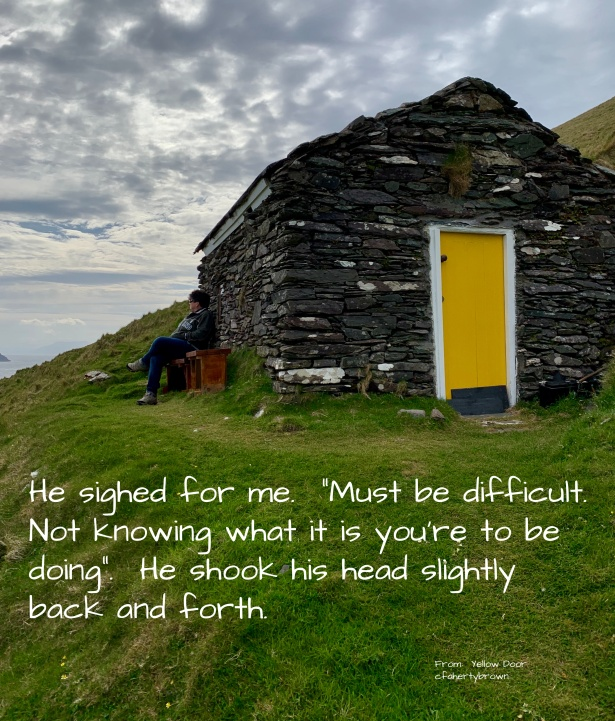Yellow Door, Fiction, Book, Island, Great Blasket Island, Ireland
