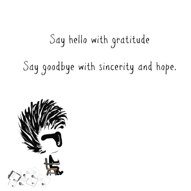 Taking Notes, Greetings, Hello, Goodbye