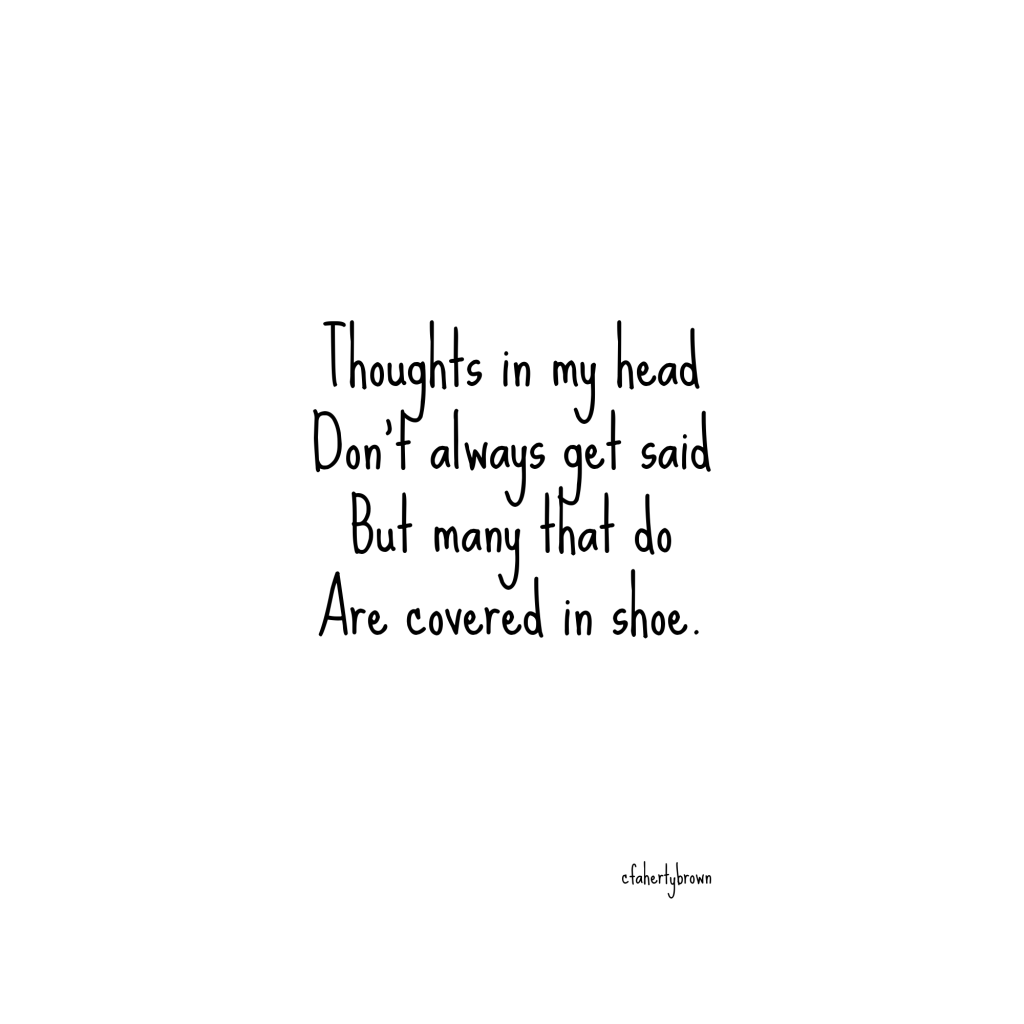 shoe, words, foot, mouth