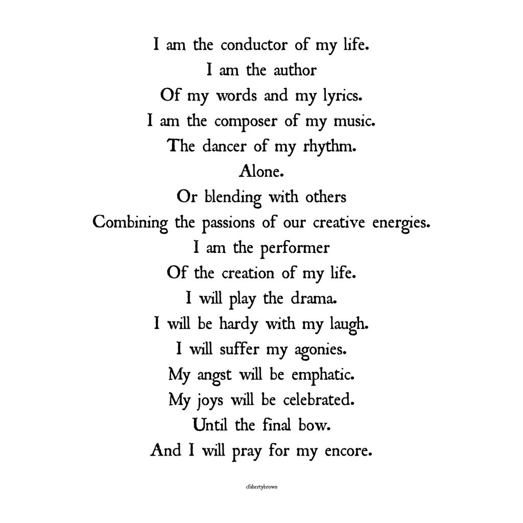 poetry, conductor, author, lyrics, story, dancer, laugh, emphatic, celebrated, pray, encore, poem,