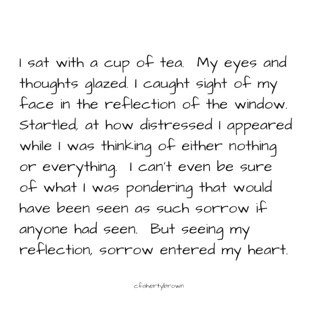poetry, reflection, ponder, sorrow, distress, fiction, tea, mug,